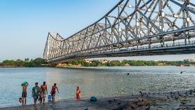 Pont de pont ou de Hooghly de Howrah photos stock
