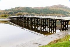 Pont de péage de Penmaenpool, égalisant photos stock