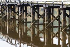Pont de péage de Penmaenpool, égalisant Photos libres de droits
