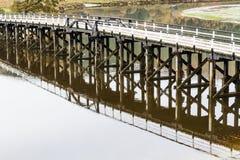 Pont de péage de Penmaenpool, égalisant image libre de droits