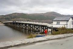 Pont de péage en bois de Penmaenpool Photo libre de droits