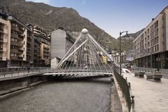 Pont de Paris, Andorra la Vella, Andorra, 2014 royalty free stock images
