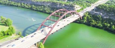 Pont de Pennybacker de vue aérienne ou 360 pont dans Austin, le Texas, U Photo libre de droits