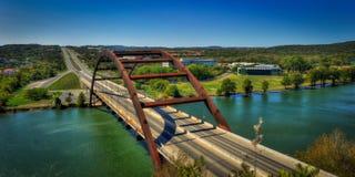 Pont de Pennypecker au-dessus de lac Austin, le Texas Image libre de droits