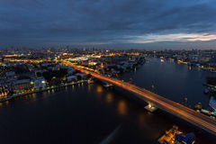 Pont de Phra Pinklao photo libre de droits