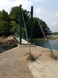 Pont de pied de suspension Photos stock