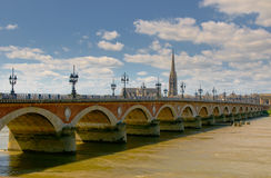Pont de Pierre, Bordéus, France Fotografia de Stock Royalty Free