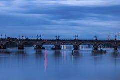 The Pont de Pierre in Bordeaux. Bordeaux, Nouvelle-Aquitaine, France Stock Photos