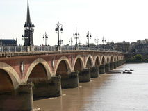Pont de pierre, Bordeaux ( France ) Stock Images