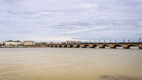 Pont de Pierre in Bordeaux Royalty Free Stock Image