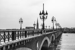Pont de Pierre in Bordeaux, France Stock Photography