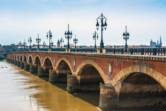 Pont de Pierre in Bordeaux, France Royalty Free Stock Photos