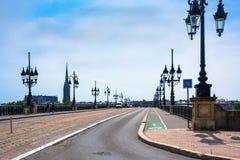 Pont de Pierre in Bordeaux, Francia Immagini Stock Libere da Diritti