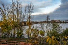 Pont DE Pierre in Bordeaux, Frankrijk stock afbeeldingen