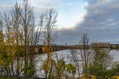 Pont DE Pierre in Bordeaux, Frankrijk royalty-vrije stock fotografie