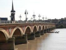 Pont de pierre, Bordeaux (Frankrike) Arkivbilder