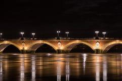 Pont de Pierre in Bordeaux Royalty Free Stock Photo