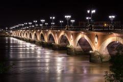 Pont de Pierre in Bordeaux Royalty Free Stock Photos
