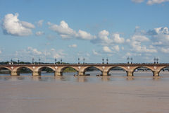 Pont-de-Pierre, Bordeaux Stock Photos