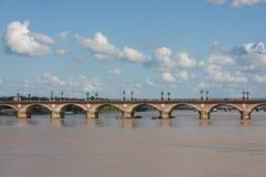 Pont-de-Pierre, Bordeaux Stock Photos