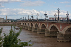 Pont-de-Pierre, Bordeaux Royalty Free Stock Photography