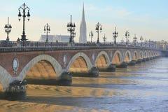 Pont de Pierre bridge Royalty Free Stock Images