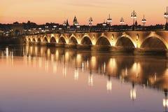 Pont de pierre bridge Stock Photography