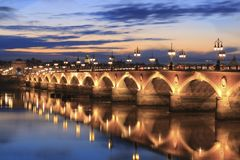 Pont de pierre bridge Stock Photos