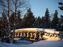 Pont de plein hiver Images libres de droits