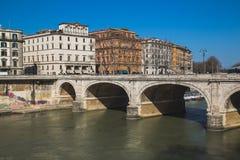 Pont de Ponte Cavour à Rome Photos libres de droits