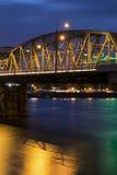 Pont de Portland la nuit images libres de droits