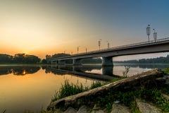 Pont de Prienai des étapes Photographie stock