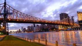 Pont de queensboro de paysage Photo libre de droits