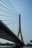 Pont de Rama 8 à Bangkok Thaïlande Photo stock
