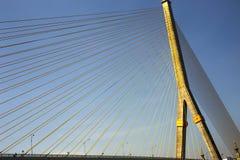 Pont de Rama 8 dans à Bangkok Thaïlande image stock
