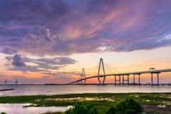 Pont de Ravenel à Charleston Images libres de droits