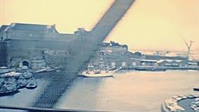 Pont de Recouvrance Brest stock video footage