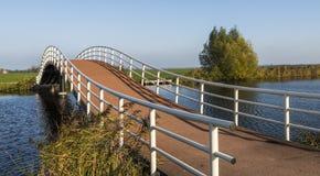 Pont de recyclage avec des personnes Groot-Ammers Photos libres de droits