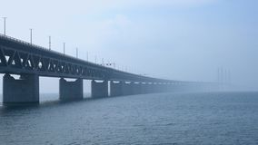 Pont de ?-resund entre Copenhague et Malm?, Su?de, l'Europe clips vidéos