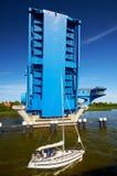 pont de rivière à l'île d'Usedom Photo libre de droits