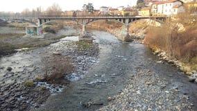 Pont de rivière Photo libre de droits