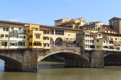 Pont de rivière d'AMO à Florence Photo libre de droits