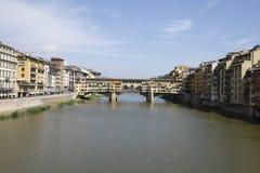 Pont de rivière d'AMO à Florence Photographie stock libre de droits