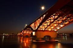 Pont de rivière de la Corée Photographie stock libre de droits