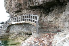 Pont de roche Photographie stock