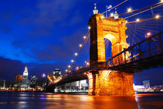 Pont de Roebling, Cincinnati Photographie stock