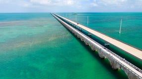 Pont de route d'outre-mer, la Floride images stock