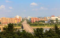 Pont de Rungna, Pyong Yang Photos stock