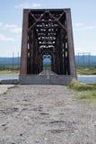 Pont de Rusty Abandoned Old Train Trestle dans Terre-Neuve Photos stock