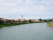 Pont de Scaligero de paysage - Vérone Image libre de droits
